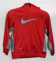 Nike therma Fit youth kids sweatshirt hoodie red long sleeve size S/P - $14.62