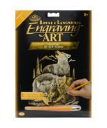 """Gold Foil Engraving Art Kit 8""""X10""""-Wolves - $10.90"""