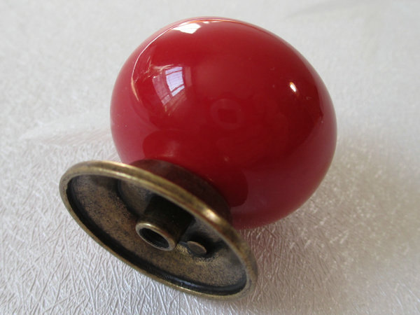 Red dresser knob drawer knobs kitchen cabinet knobs pulls - Red kitchen cabinet knobs ...