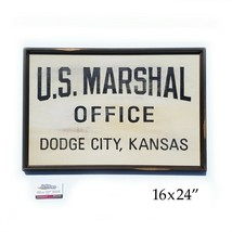 Gunsmoke Marshal Dillon Dodge City hand painted sign - $170.28