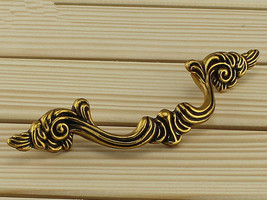 "3.75"" Dresser Pulls Drawer Pull Handles Antique Brass Gold Cabinet Handl... - $6.50"
