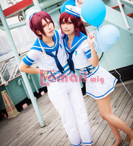 Free! Eternal Summer Rin Matsuoka Sailor Suit School Uniform Cosplay Cos... - $45.99