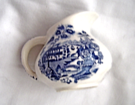 Vintage Blue Royal Crownford England Mini Creamer Pitcher Transferware Ironstone - $10.99