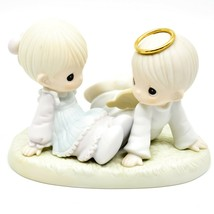 1997 Precious Moments 521388 Heaven Must Have Sent You Porcelain Figurine image 2