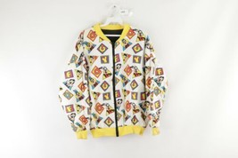 Vintage 90s Disney Mens Small Goofy All Over Print Reversible Bomber Jac... - $69.25
