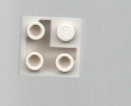 White LEGO 2x2 Sloped Corner Brick - Basic Building Set. - $0.89
