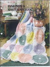 Diamonds & Shells Afghan Crochet Pattern~Annie's Quilt & Afghan Club - $29.99