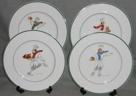 Set (4) Guy Buffet SKATING CHEFS SERIES PATTERN Dinner Plates GERMANY - $98.99