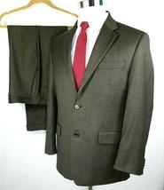 Michael Kors Suit Mens Size 40 Regular 34 x 30 Two Button Brown Subtle P... - $62.53