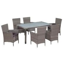 vidaXL Outdoor Dining Set 13 Pieces Poly Rattan Wicker Patio Garden Furn... - $509.99