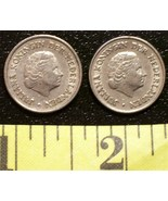 Netherlands 25 Cent Coin Lot (2) Dated 1950 GC Wow! - $2.50