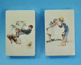 2 Decks Trump Playing Cards Norman Rockwell Prints Sealed - $9.25