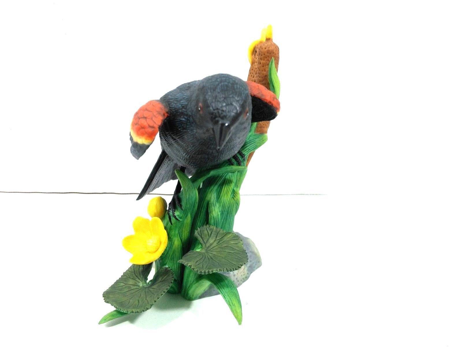 THE LENOX GARDEN BIRD COLLECTION Red Winged Black Bird (Fine Porcelain 1991) image 3