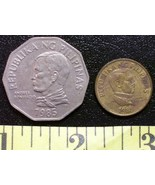 Philippine Coin Lot (2) 1985 Two Peso + 1989 25 Sentimo - $3.00