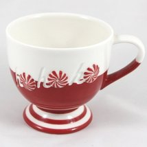 Starbucks Coffee Holiday 2007 Red & White HoHoHo Footed Cup 12 fl oz. - $12.32
