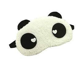 Cute Panda Eye Mask Soft Plush Sleeping Mask Travel Working Mask #04 - $12.74