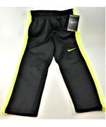Nike Boys Size 5 Sweatpants Pants Therma Fit  Black & Neon Yellow New Fr... - $22.76