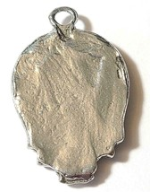 MARIJUANA LEAF SKULL Fine Pewter Pendant Approx. 1-1/2 inches wide image 2