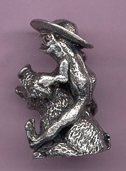 Primary image for PEWTER FROG RIDING A PIG
