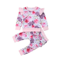 2pcs Newborn Baby Girls Clothes T Shirt Top+Floral Pants Leggings Outfit... - $12.99