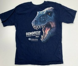 Dinofest 2017 Natural History Museum of Utah T-Shirt Youth Size XL Dinosaurs - $10.29