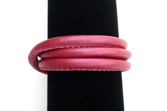 Faux Leather Bracelet, Story by Kranz & Ziegler, 3 Wrap, Pink, New