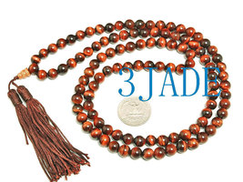 Free Shipping - perfect 100% Natural Red Tiger's Eye  Meditation Yoga Prayer  be - $35.99