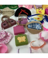 Lot of 103 Vintage Barbie Doll Accessories Hangers Hats Purses Glasses and More - $64.99