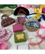 Lot of 103 Vintage Barbie Doll Accessories Hangers Hats Purses Glasses a... - $64.99