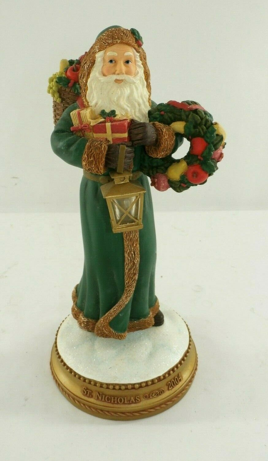 Primary image for Hallmark St. Nicholas Christmas Ornamental Figurine w/ Light Up Lamp 2004