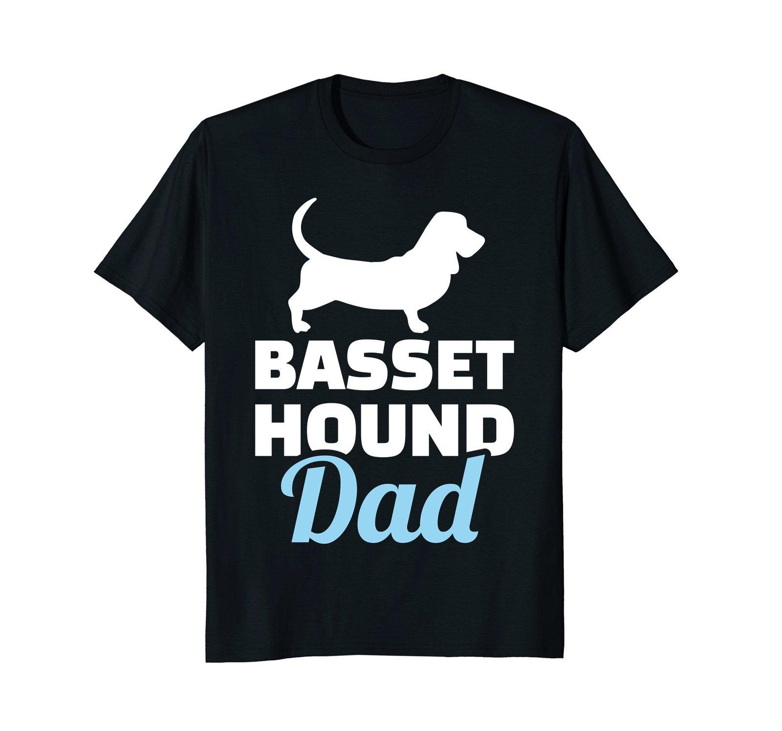 Mens Basset hound dad T-Shirt