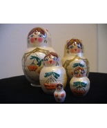 Signed, Hand Painted, 5 Piece Matryoshka Doll - $12.00
