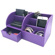 UnionBasic Office Desk Organizer - Multifunctional PU Leather Desktop St... - $33.05