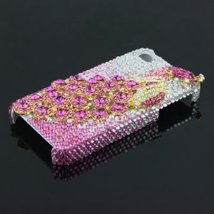 3D Peacock Rhinestone Case Cover Protector for Apple  - $35.00