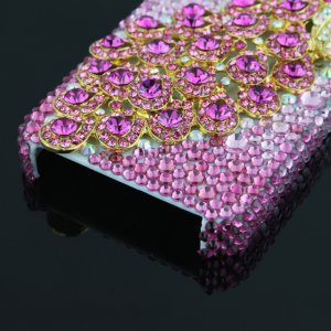 3D Peacock Rhinestone Case Cover Protector for Apple