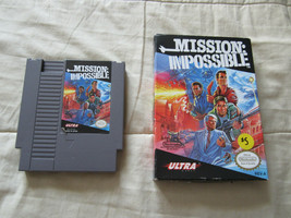 Mission Impossible NES Nintendo Cartridge With Box Cleaned & Tested - $6.05