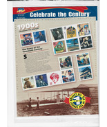 Celebrate The Century Stamps 1900's Dawn Of The Twentieth Century Sheet ... - $19.00