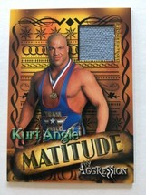 WWE Kurt Angle 2003 Fleer Aggression Matitude Event Used Mat Relic Card WWF - $9.99