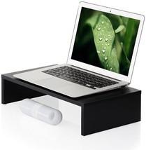 Desktop Computer Monitor Riser Laptop Holder Save Space For Macbook Lapt... - $41.96