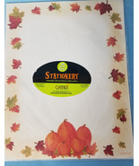 Stationery Paper Print Invitations/Notice/Letter Pumpkin Autumn Design 2... - $9.99