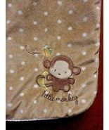Carters Just One Year 'Little Monkey' Baby Blanket Brown White Polka Dot... - $36.21
