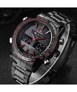 men watches NAVIFORCE 9024 full steel luxury brand Quartz digital LED - $30.39