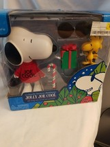 Peanuts Snoopy Jolly Joe Cool Woodstock Christmas Deluxe Figurines - $21.24