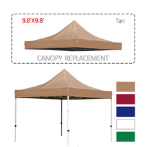 9.8 X 9.8 Ft Pop Up Gazebo Replacement Canopy Cover with UV Resistant Wa... - $34.99