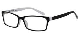EBE Bifocal Reading Glasses Mens Womens Rectangular Black White Full Rim... - $29.51