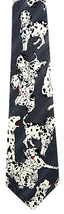 Dalmatian Dogs Mens Necktie Novelty Spotted Dog Puppies Pet Gray Neck Tie - $15.79
