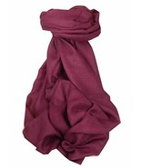 Pashtoosh Luxury Cashmere Shawl Plum by Pashmina & Silk - $285.95