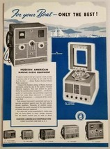 1949 Print Ad Hudson American Marine Radio Equipment New York,NY - $12.52
