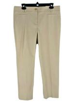 Ann Taylor Women's Beige Mid-Rise Crop Dress Pants Size 10 Tall Inseam 2... - $21.78