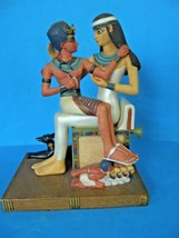 VERONESE 2000 EGYPTIAN ARTWORK STATUE OF CLEOPATRA AND YOUNG BOY ON HER LAP - $69.29